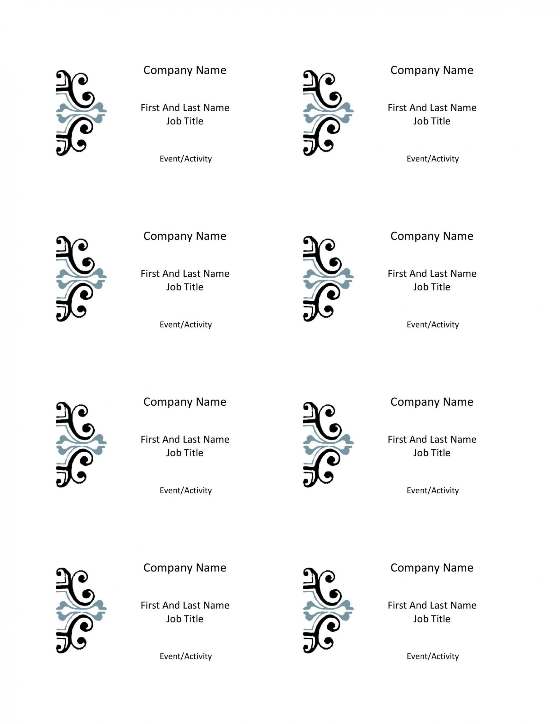 012 Dreaded Name Badge Template Word Concept  Free Download 2010 Avery 53921920