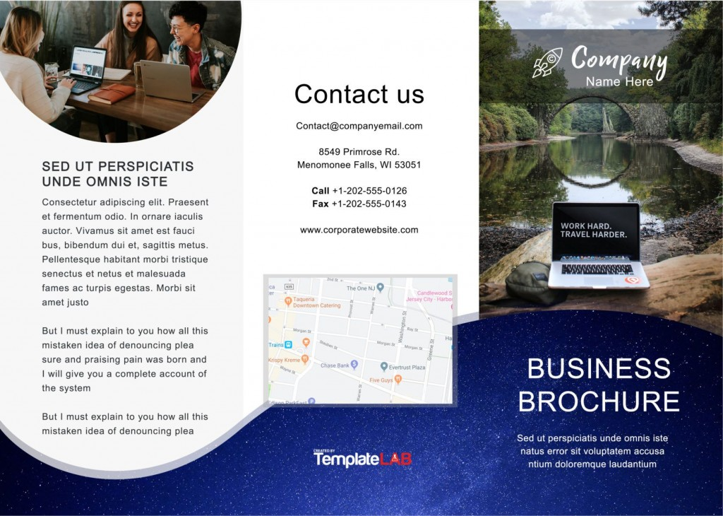 012 Fascinating Brochure Template For Word Sample  Online Layout Tri Fold MacLarge