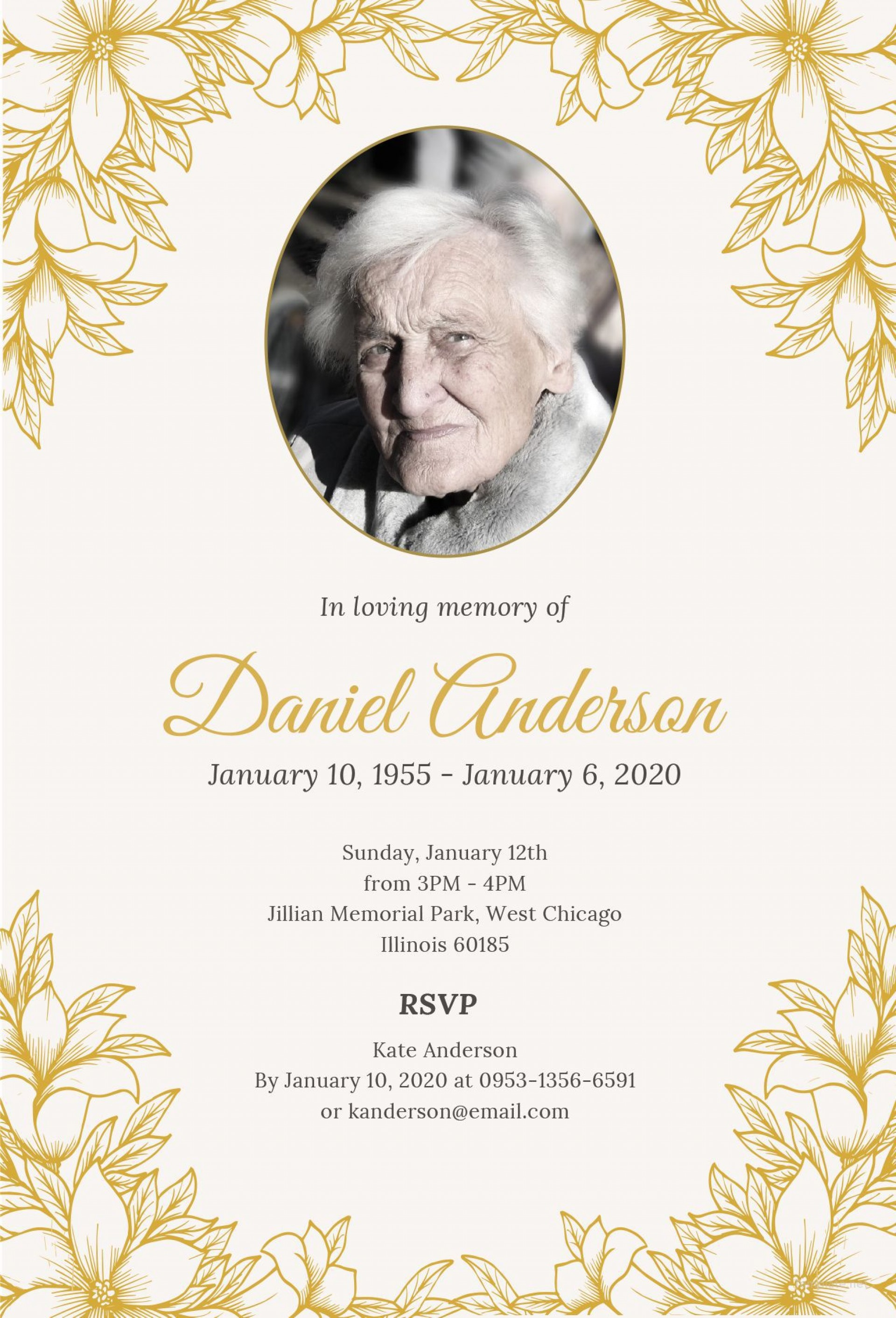 012 Formidable Funeral Invitation Template Free Inspiration  Printable Service Word1920