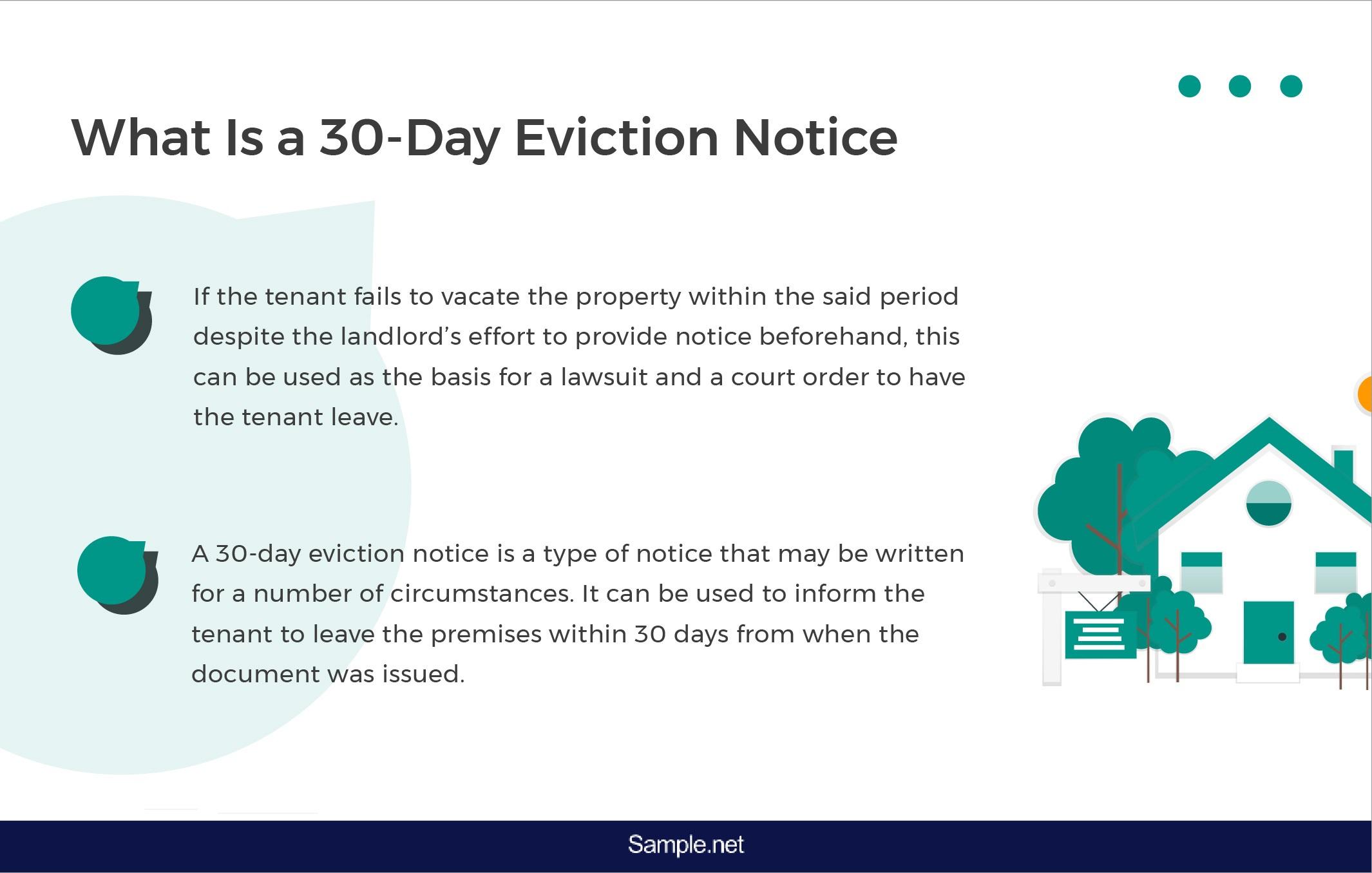 012 Impressive 30 Day Eviction Notice Template Concept  Pdf FormFull
