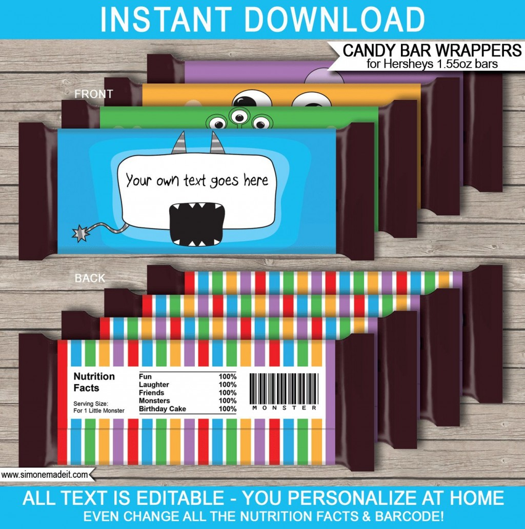 012 Impressive Hershey Candy Bar Wrapper Template Picture  Free WordLarge
