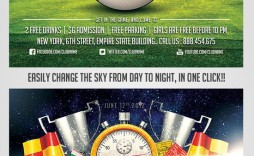 012 Shocking Football Flyer Template Free Sample  Download Flag Party