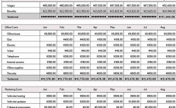 012 Simple Excel Busines Budget Template Highest Quality  Small Monthly Yearly Free Spreadsheet