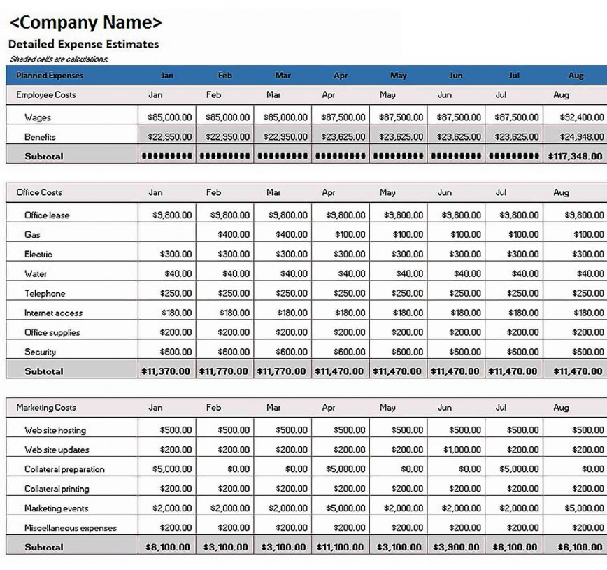 012 Simple Excel Busines Budget Template Highest Quality  Small Monthly Free