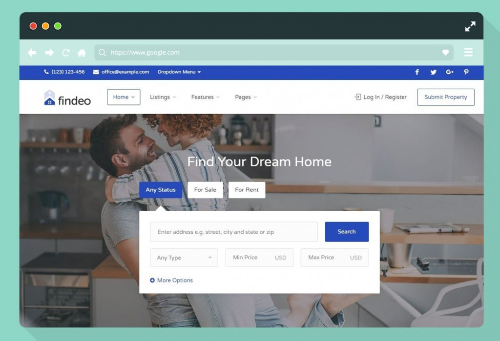 012 Staggering Real Estate Website Template High Resolution  Templates Bootstrap Free Html5 Best WordpresLarge