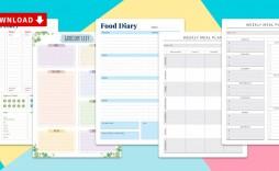 012 Top Meal Plan Calendar Template Sample  Excel Weekly 30 Day