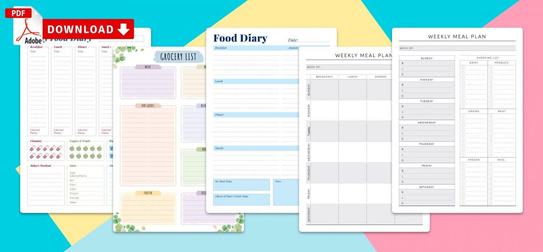 012 Top Meal Plan Calendar Template Sample  Excel Weekly 30 DayFull