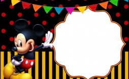 012 Unforgettable Mickey Mouse Invitation Template Photo  Free Diy 1st Birthday Baby Download