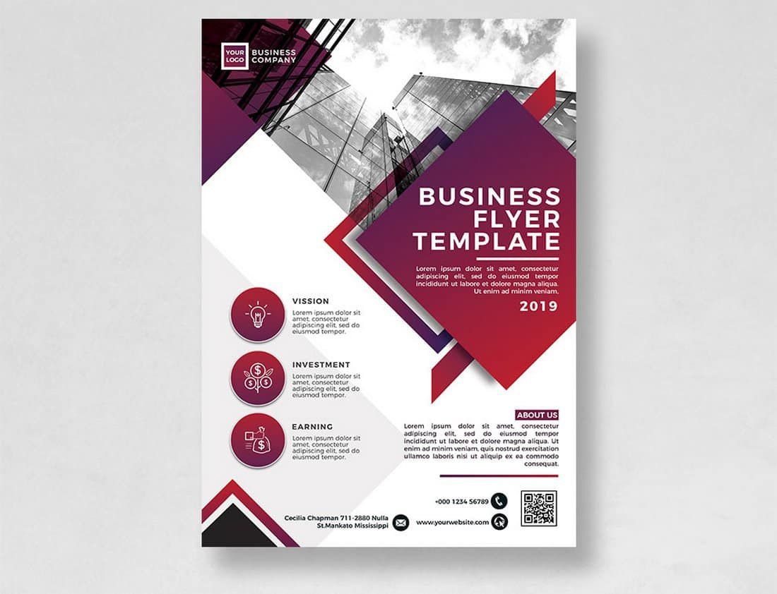 012 Unusual Free Flyer Design Template High Definition  Templates Online Download PsdFull