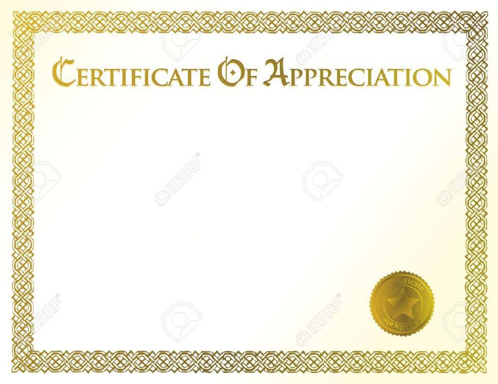 012 Wondrou Certificate Of Appreciation Template Free Sample  Microsoft Word Download Publisher EditableFull