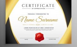 013 Best Certificate Of Appreciation Template Free Design  Microsoft Word Download Publisher Editable