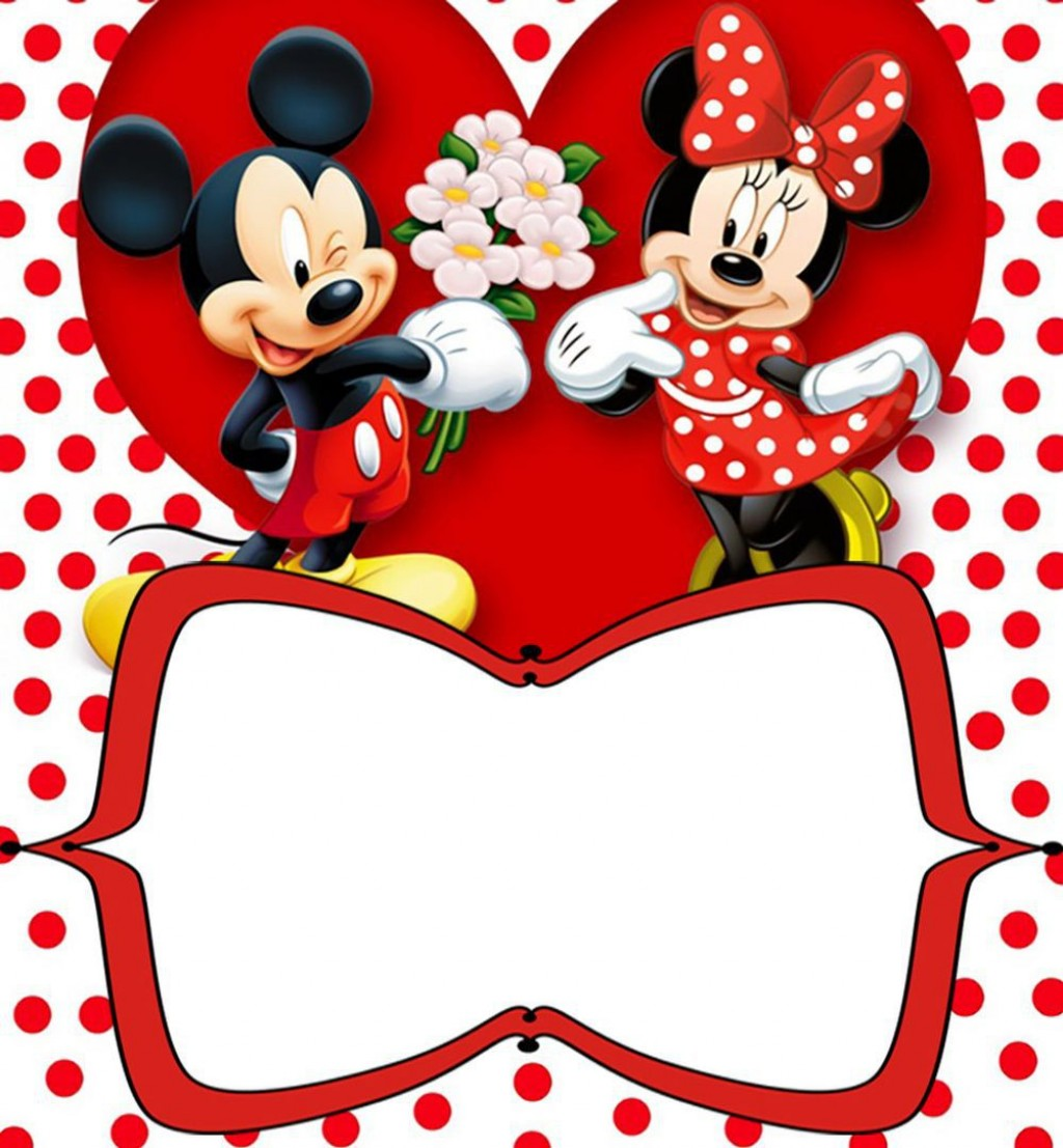 013 Best Mickey Mouse Invitation Template Highest Quality  Free Diy 1st Birthday Baby DownloadLarge