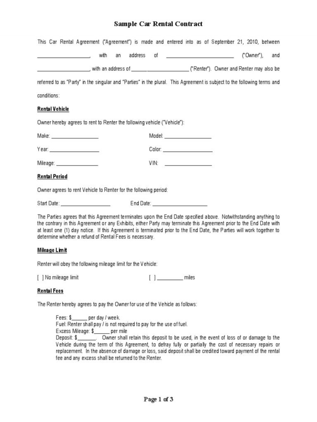 013 Fascinating Car Rental Agreement Template High Definition  Vehicle Rent To Own South Africa SingaporeLarge