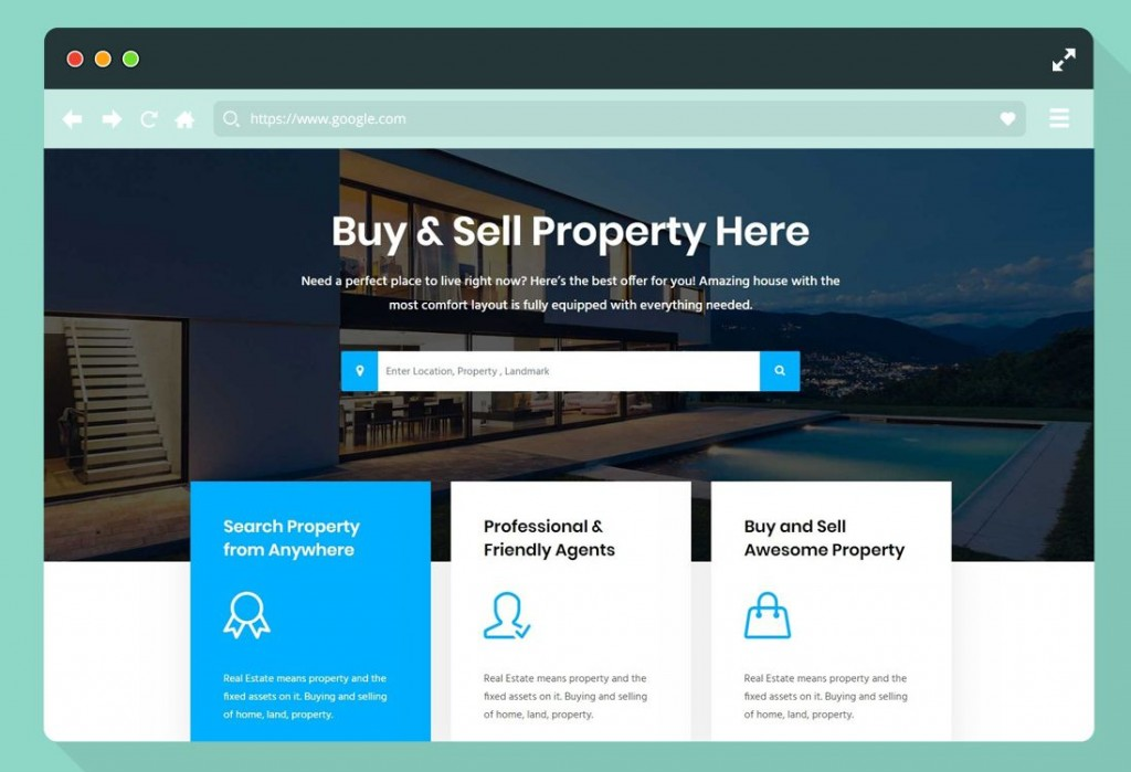 013 Fearsome Real Estate Website Template High Definition  Templates Bootstrap Free Html5 Best WordpresLarge