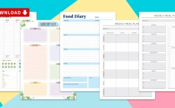 013 Magnificent Meal Plan Calendar Template Highest Clarity  Excel Weekly 30 Day