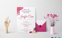 013 Singular Funeral Invitation Template Free Picture  Memorial Service Card Reception