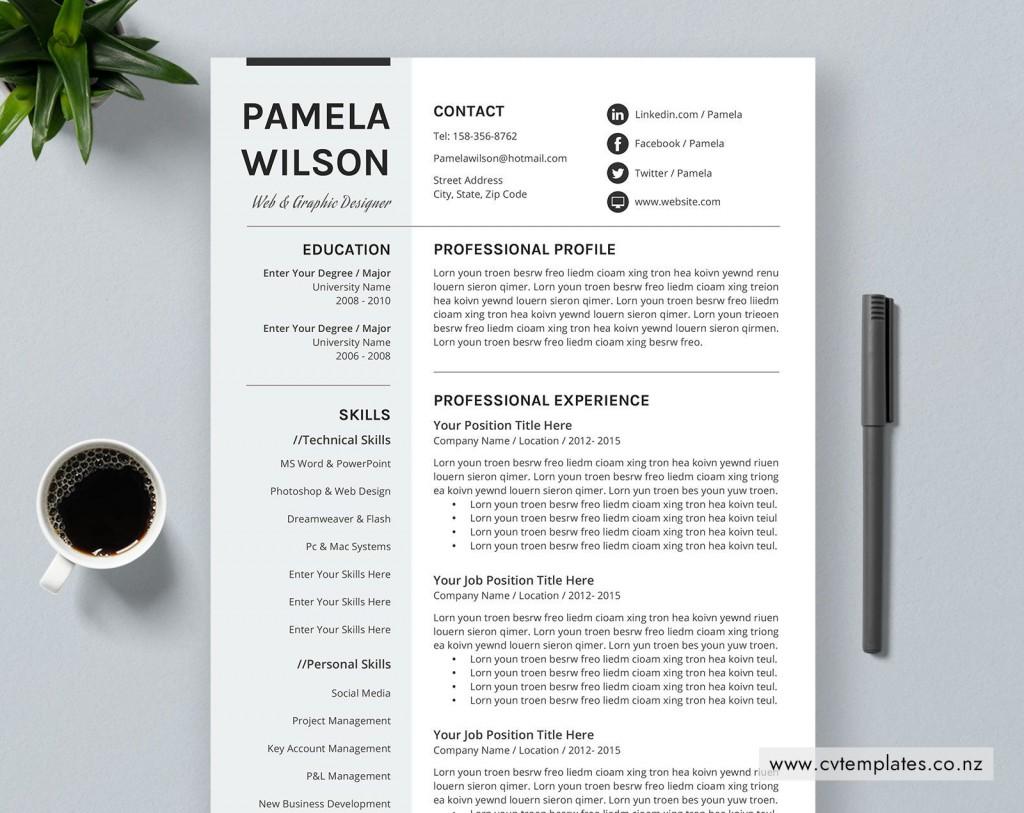 013 Stunning Curriculum Vitae Template Free Word Design  Sample Format Microsoft Cv DownloadLarge