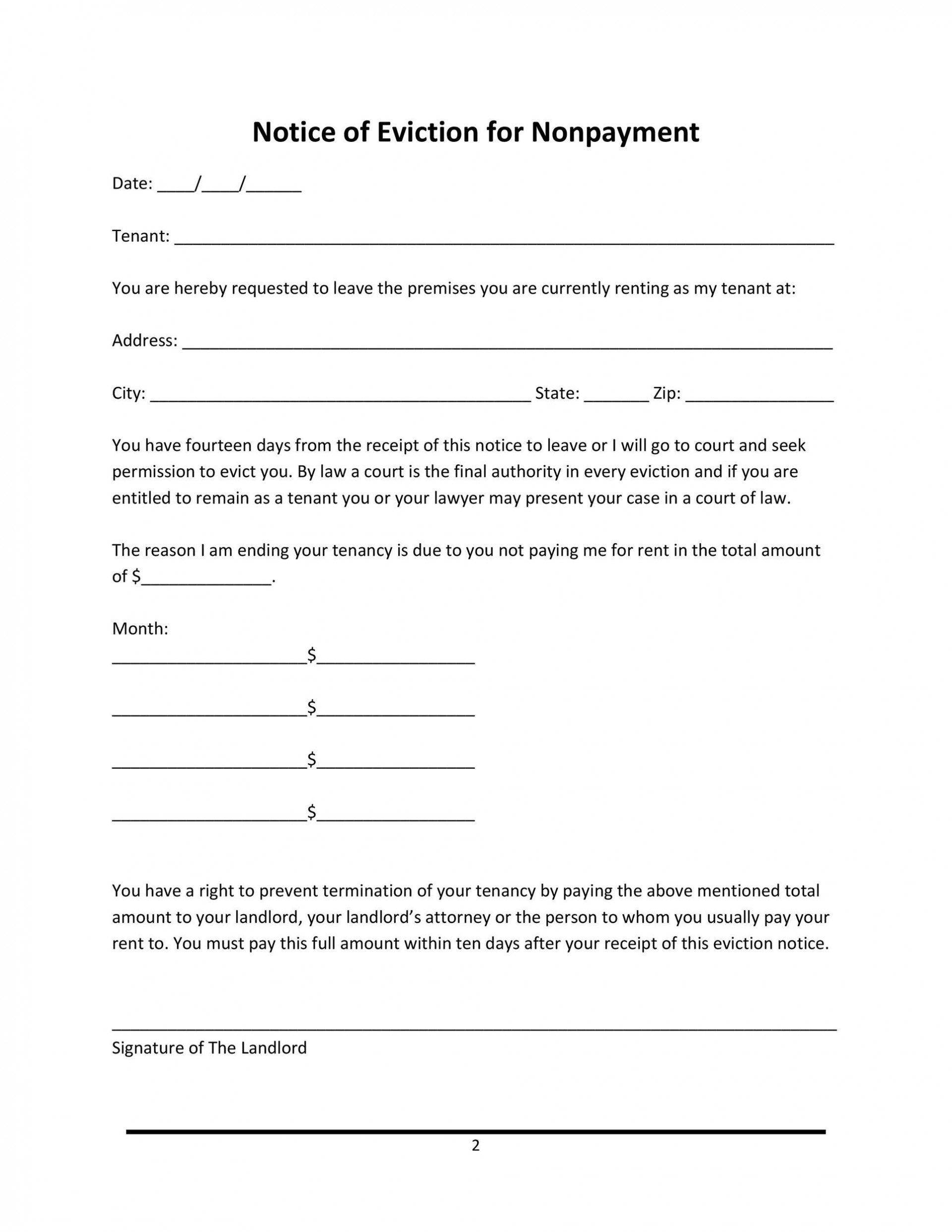 014 Rare 30 Day Eviction Notice Template Concept  Pdf Form1920