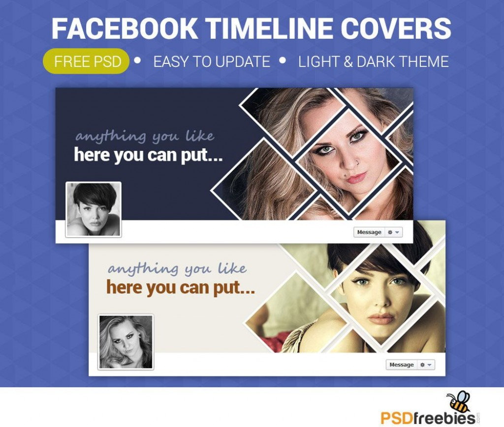 014 Rare Facebook Cover Photo Photoshop Template Picture  2019 Page Profile SizeLarge