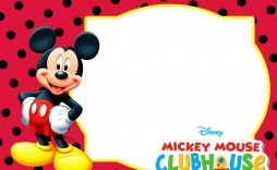 014 Stirring Mickey Mouse Invitation Template Idea  Free Diy 1st Birthday Baby Download