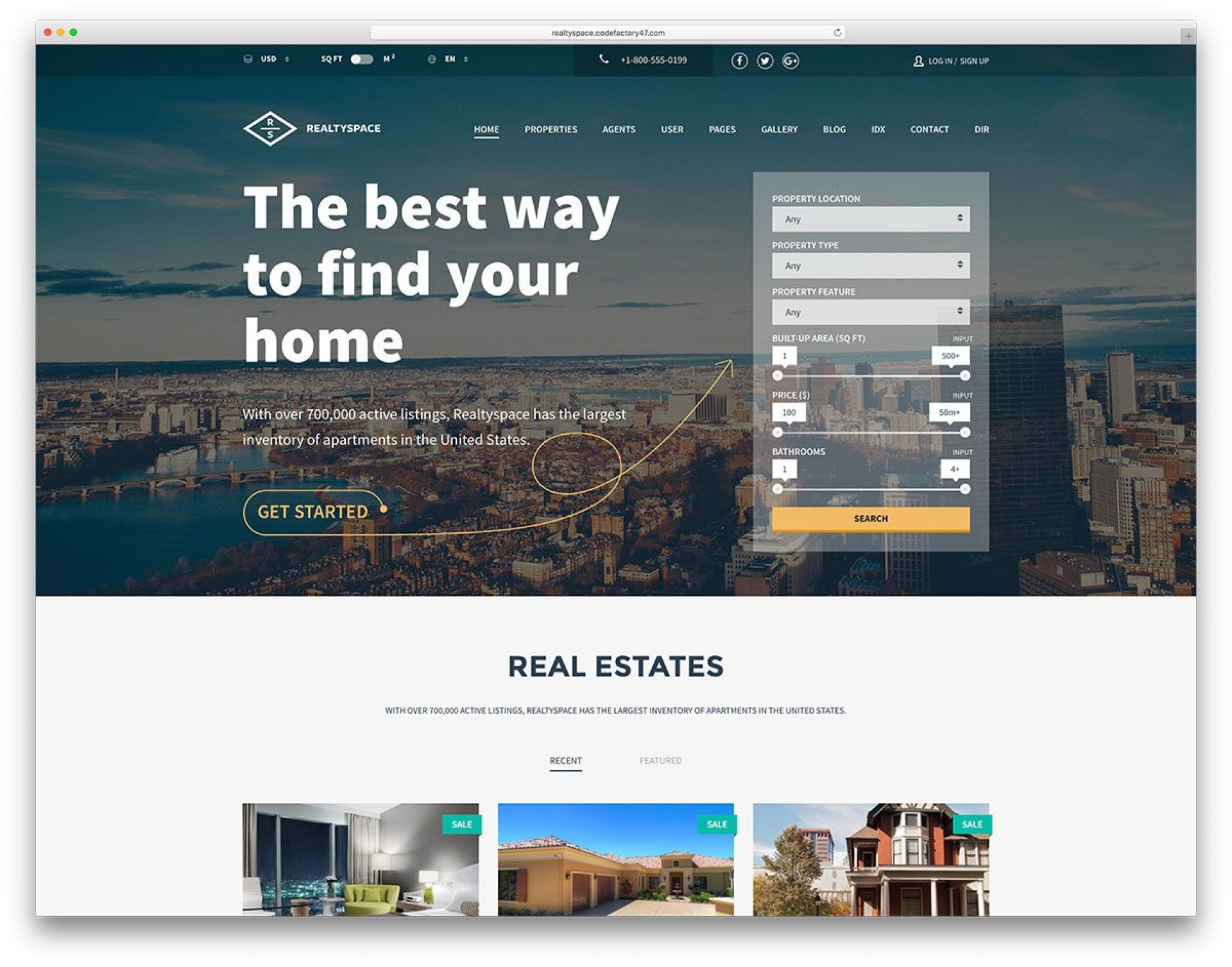 015 Amazing Real Estate Website Template High Resolution  Templates Bootstrap Free Html5 Best Wordpres1920