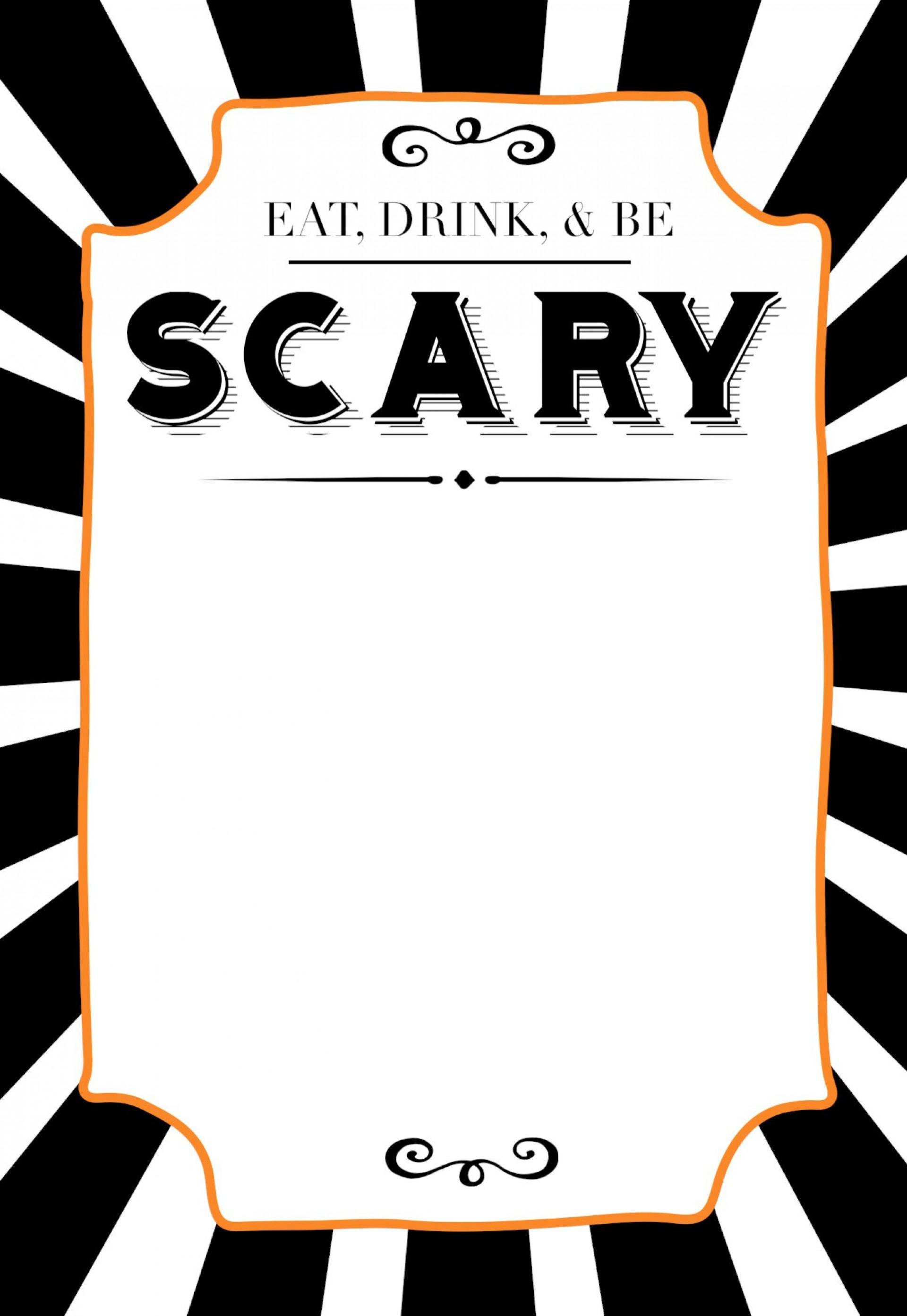 015 Fantastic Free Halloween Invitation Template Highest Quality  Templates Microsoft Word Wedding Printable Party1920