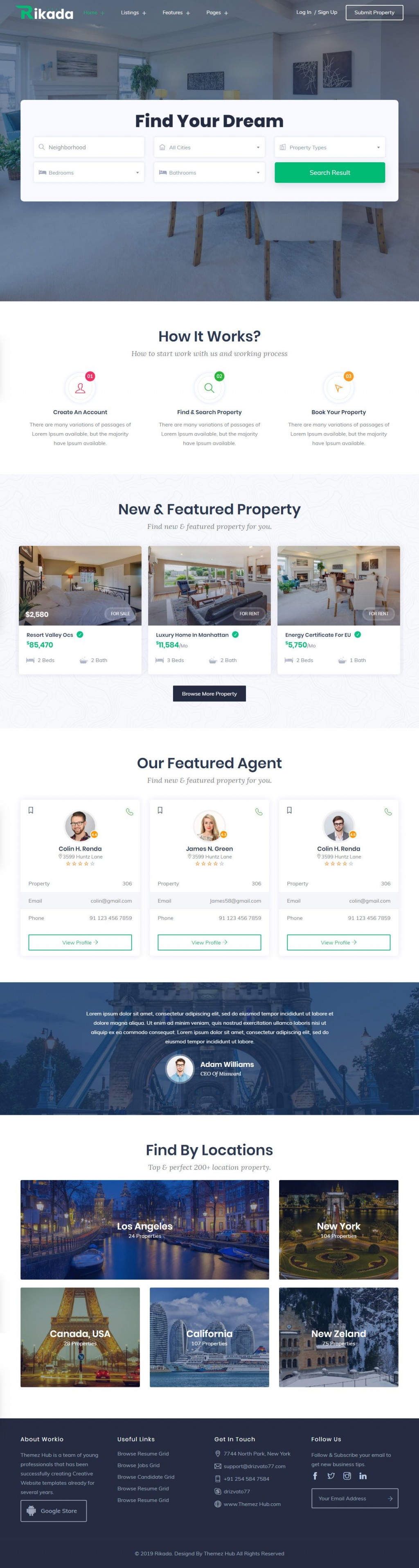 016 Astounding Real Estate Website Template Example  Templates Bootstrap Free Html5 Best WordpresLarge