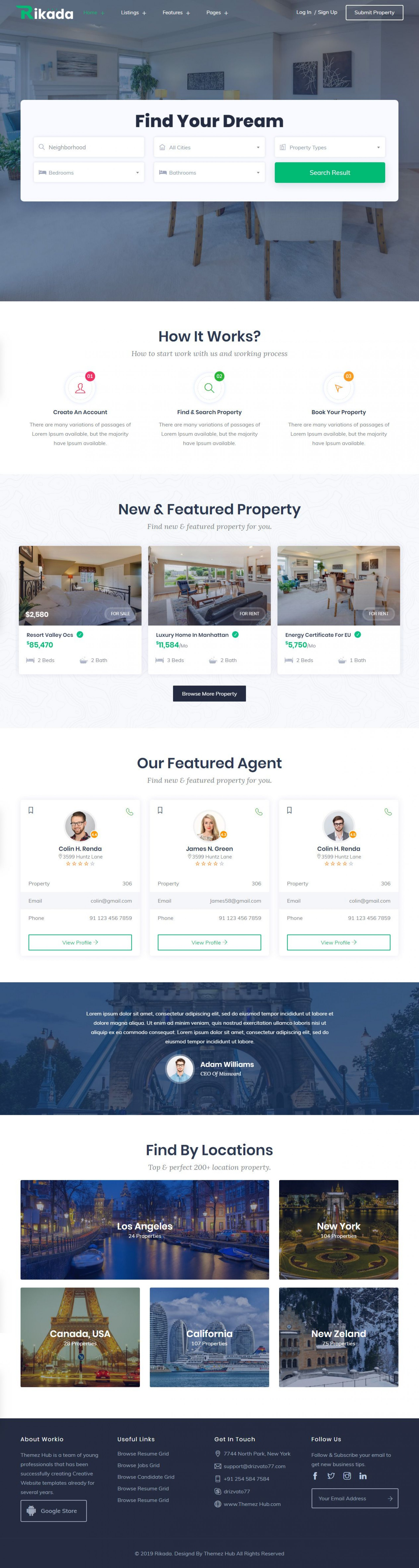 016 Astounding Real Estate Website Template Example  Templates Bootstrap Free Html5 Best Wordpres1920