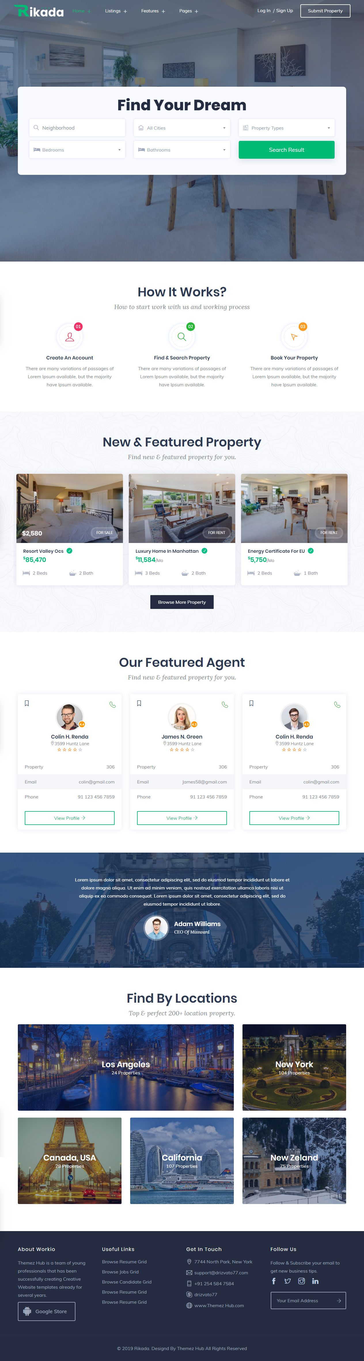 016 Astounding Real Estate Website Template Example  Templates Bootstrap Free Html5 Best WordpresFull