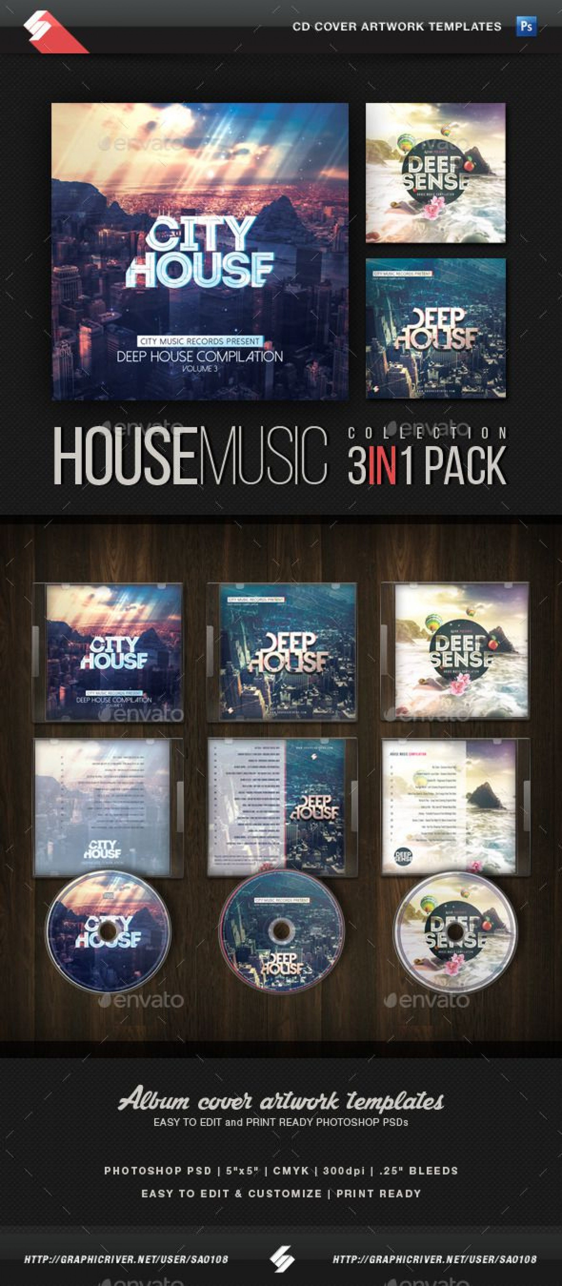 016 Fascinating Cd Cover Template Psd Inspiration  Sleeve Case Free Download Layout1920