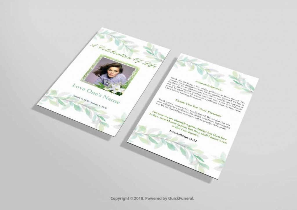 016 Incredible Funeral Invitation Template Free Inspiration  Memorial Service Card ReceptionLarge
