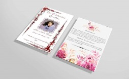 017 Remarkable Funeral Invitation Template Free Sample  Memorial Service Card Reception