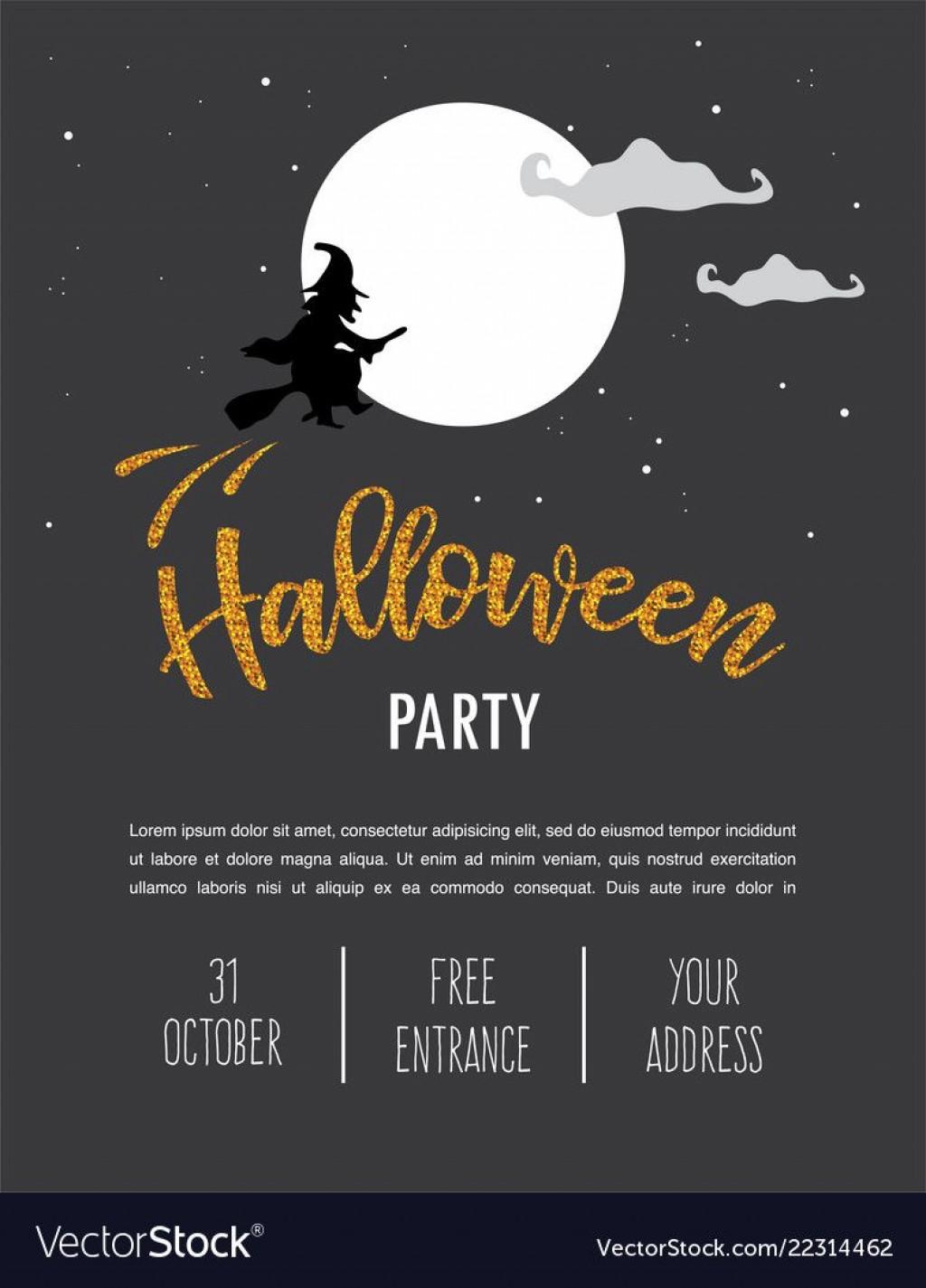 017 Shocking Free Halloween Invitation Template Sample  Templates Microsoft Word Wedding Printable PartyLarge