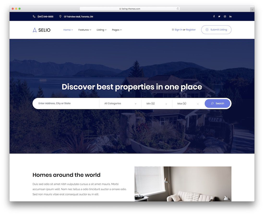 017 Unforgettable Real Estate Website Template High Definition  Templates Bootstrap Free Html5 Best WordpresFull