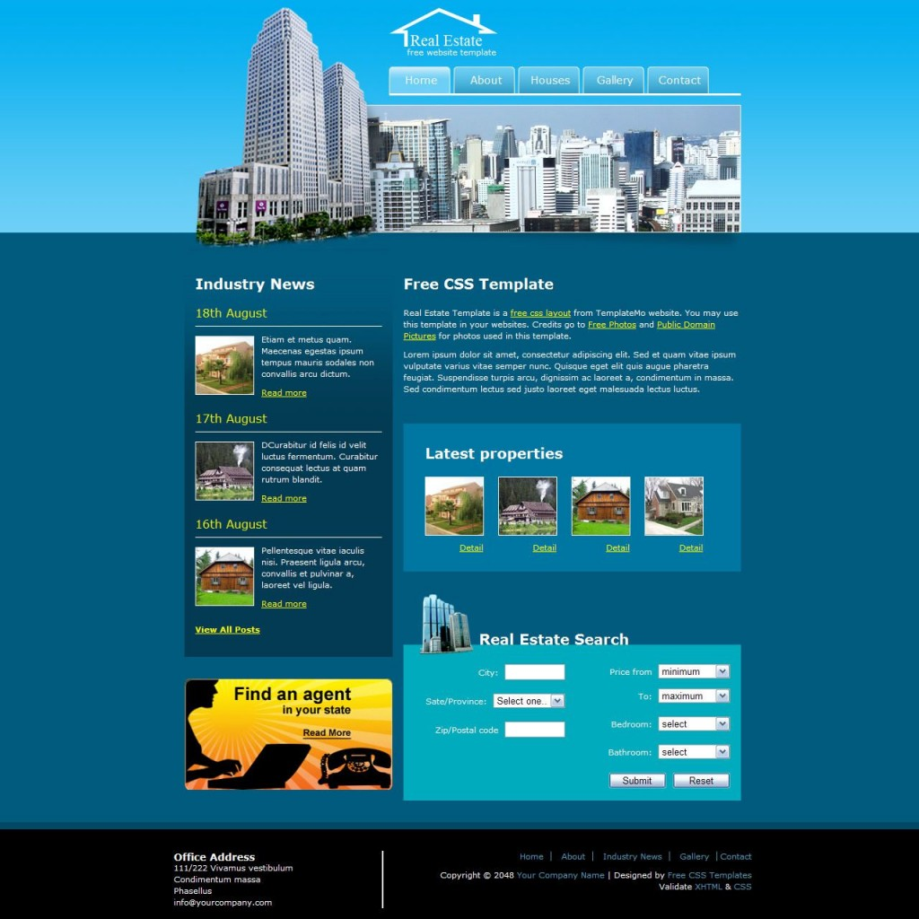 018 Rare Real Estate Website Template Highest Quality  Templates Bootstrap Free Html5 Best WordpresLarge