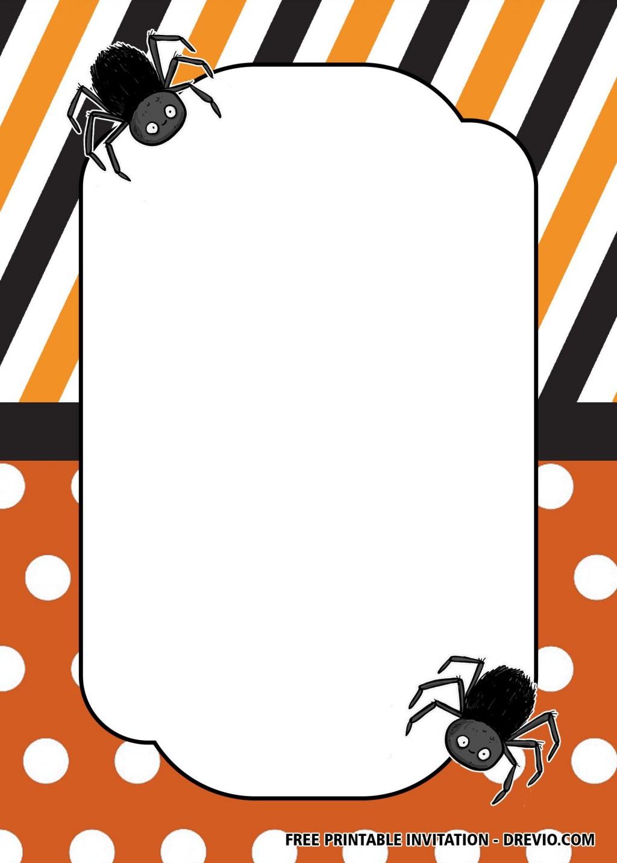 018 Stunning Free Halloween Invitation Template Inspiration  Templates Microsoft Word Wedding Printable PartyLarge