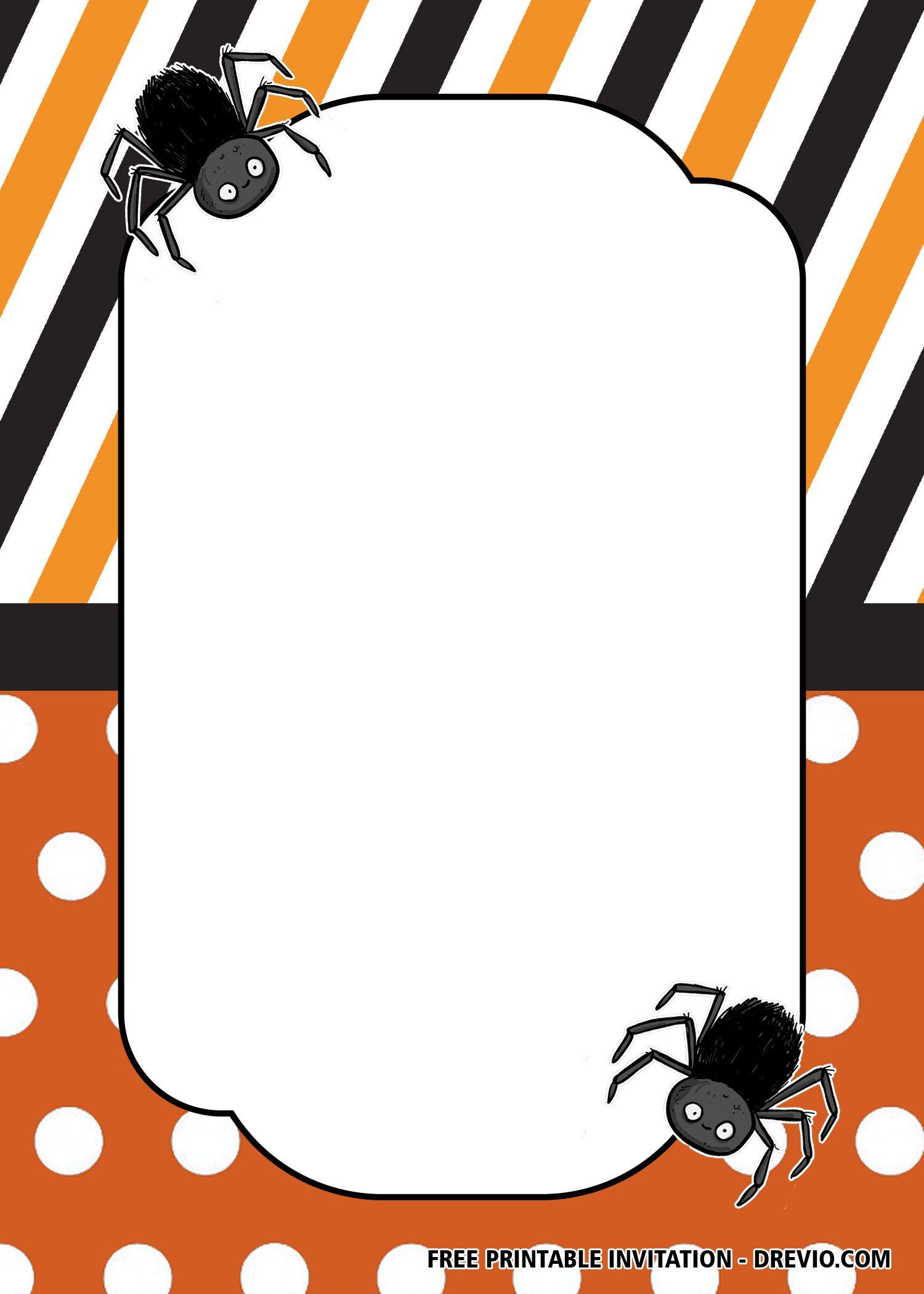018 Stunning Free Halloween Invitation Template Inspiration  Templates Microsoft Word Wedding Printable PartyFull