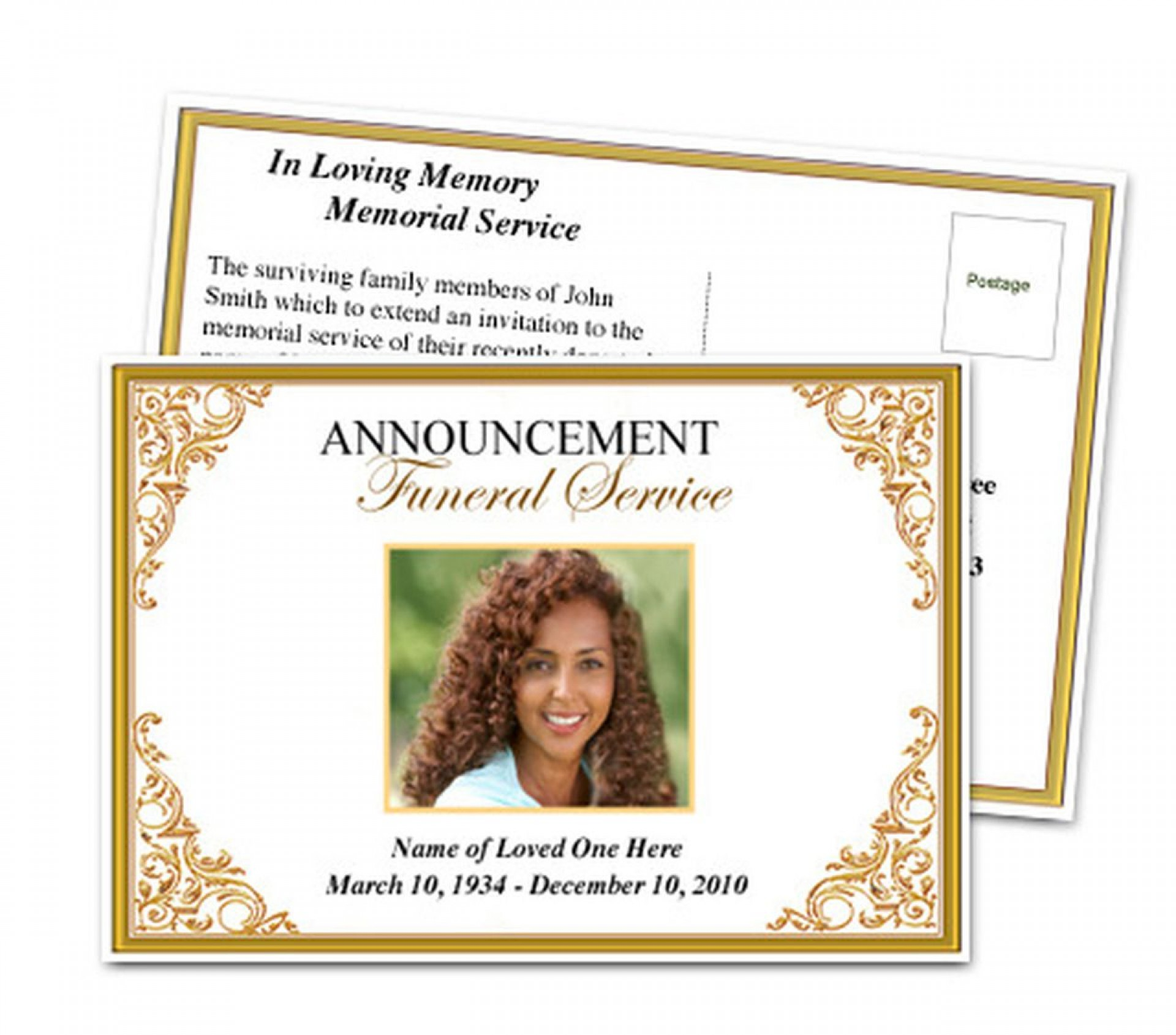 019 Beautiful Funeral Invitation Template Free Example  Printable Service Word1920