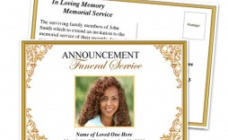 019 Beautiful Funeral Invitation Template Free Example  Printable Service Word