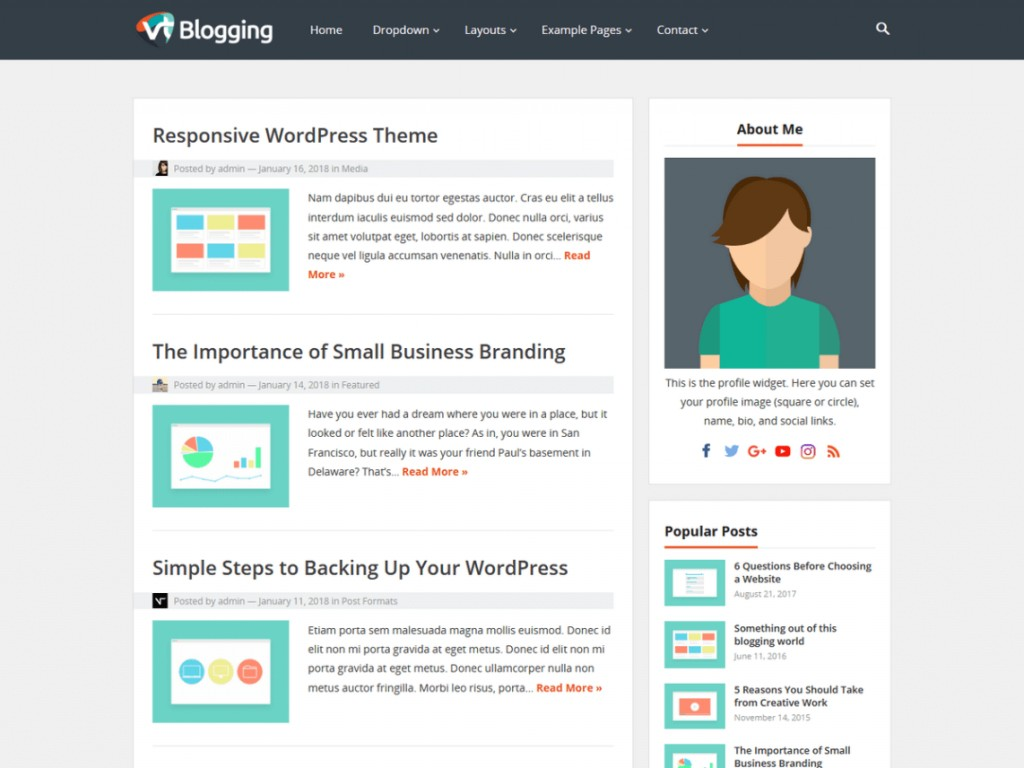 Amazing Free Wordpres Blogger Template  Templates Best Theme For Blog 2018 2019 DownloadLarge