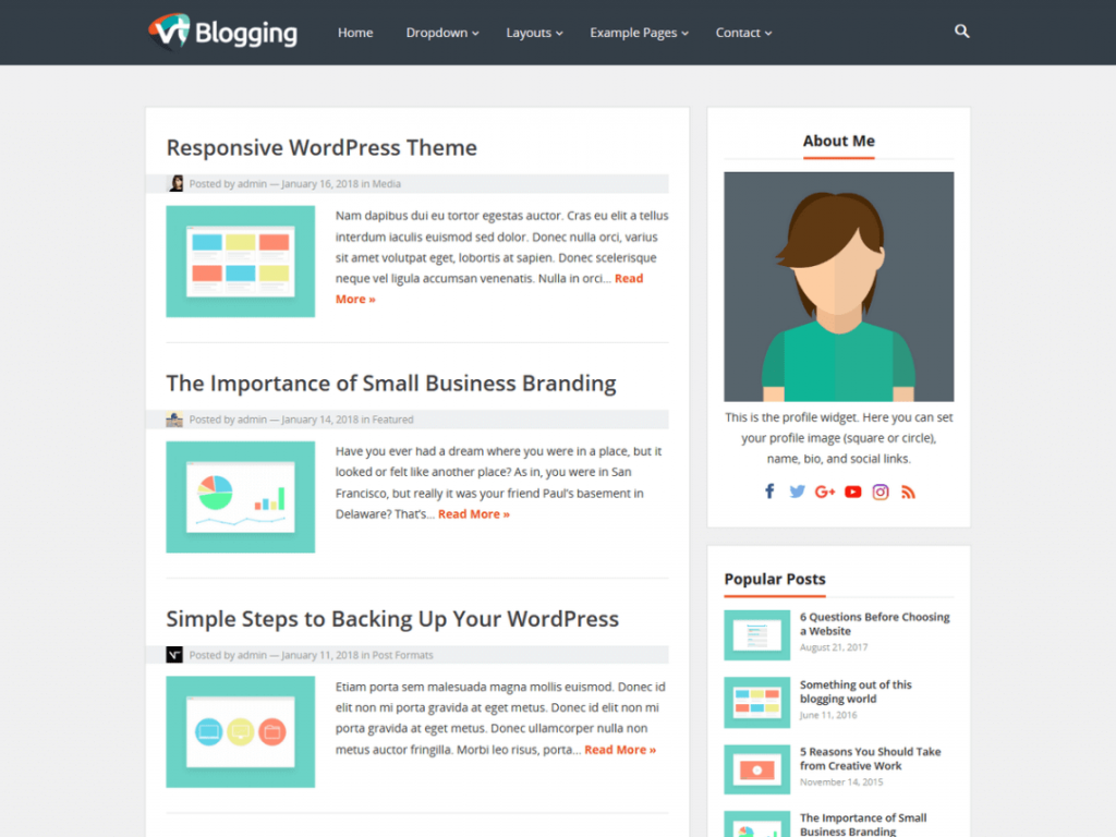 Amazing Free Wordpres Blogger Template  Templates Best Theme For Blog 2018 2019 DownloadFull