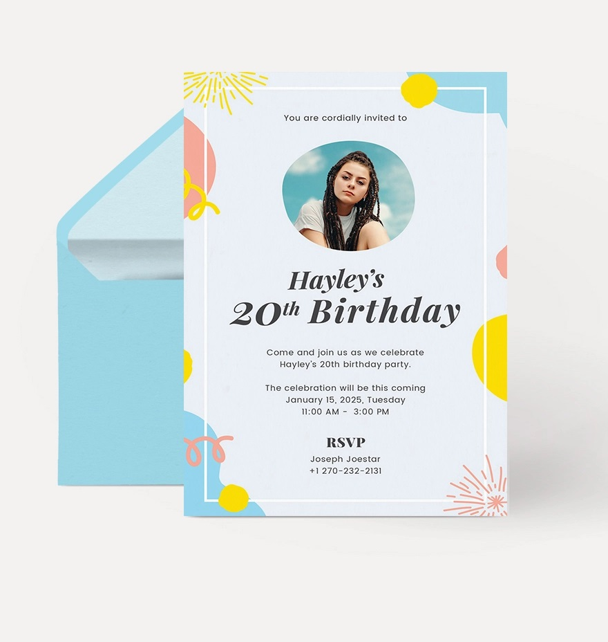 Astonishing Birthday Invitation Template With Photo Sample Of Addictionary Funny Birthday Cards Online Elaedamsfinfo
