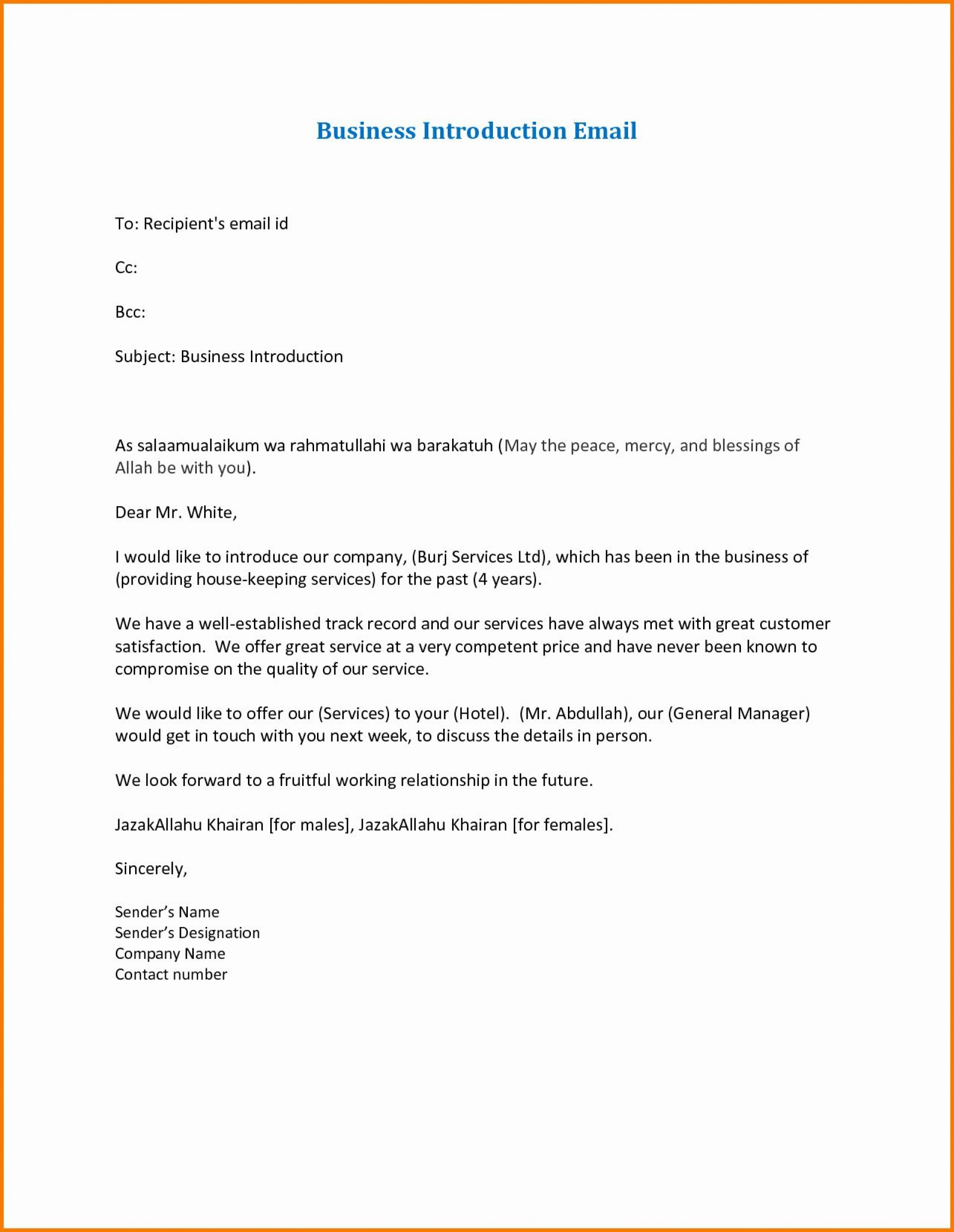 Formal Mail Template Sample Addictionary