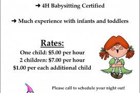 Certified Free Babysitting Flyer Template  Online