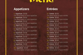 Chinese Menu Template Free Download  Restaurant Psd Word Html