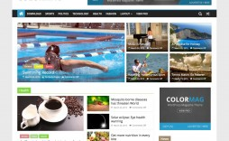 Colormag Free Wordpres Blogger Template Theme For Personal Blog  Templates Best 2018 2019 Download