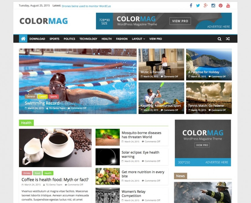 Colormag Free Wordpres Blogger Template Theme For Personal Blog  Templates Best 2019 2018