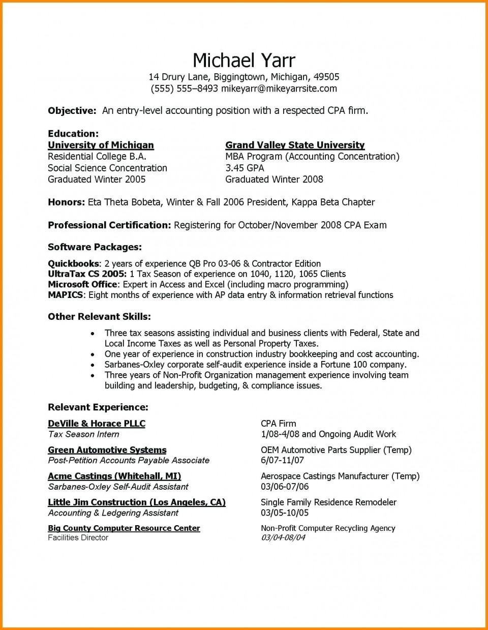 Entry Level Resume Template Idea Addictionary