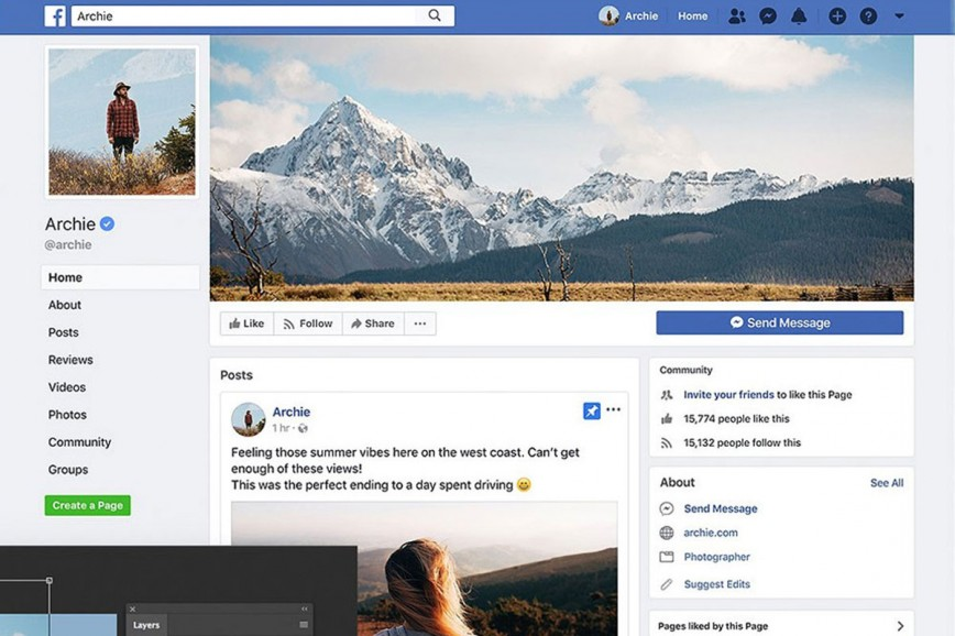 Facebook Post Template Psd Featured Mockup  Photoshop Image Sponsored