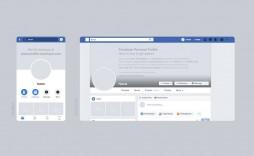 Facebook Post Template Psd Free Desktop Mobile Mockup  Download Design